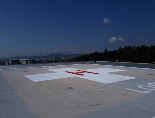 Übergabe Hubschrauberlandeplatz