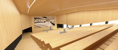New building lecture hall centre Montanuniversität Leoben