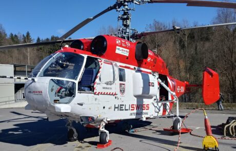 Hubschraubereinsatz bei der Chirurgie