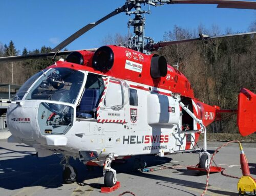 Helicopter operation at the surgery Graz