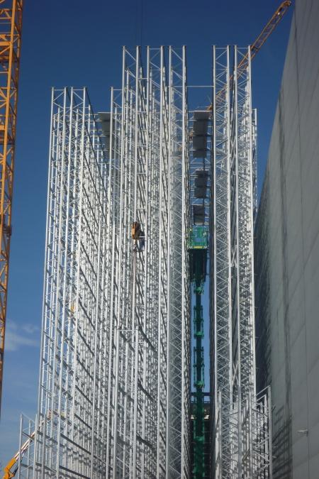 Baufortschritt Hochregallager inkl. Logistik CCG Werndorf