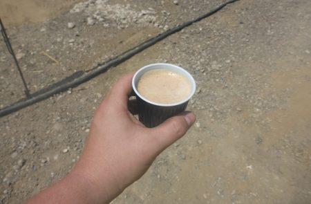 Kaffeepause in luftigen Höhen