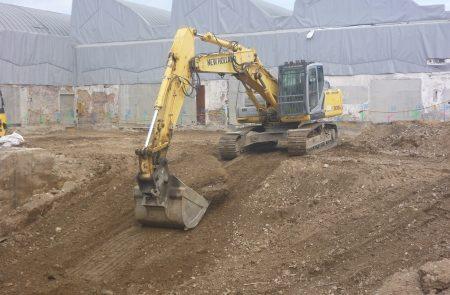 Baufortschritt bei 3M in Villach