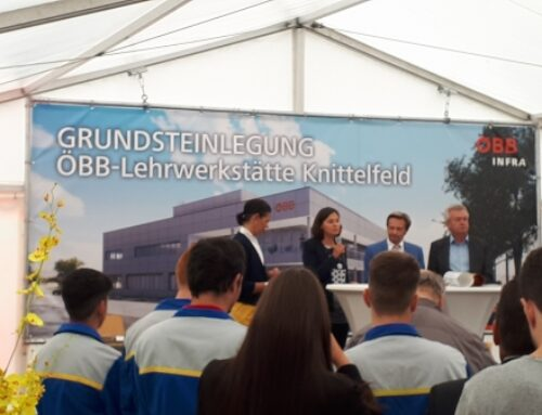 Laying of the foundation stone for OEBB apprentice workshop Knittelfeld
